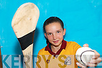 WINNER: Aisling Mangan from Duagh National School who won the Kerry Primary Schools Camogie Skills Finals in Tralee at the weekend..