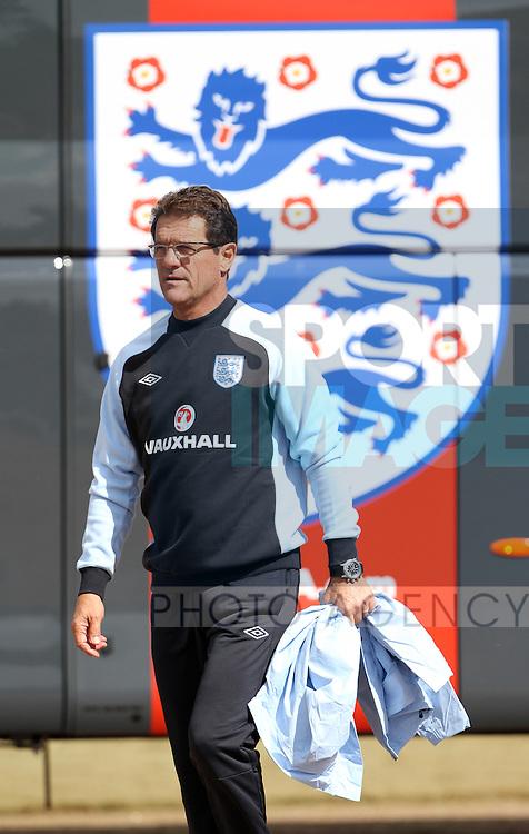 Englands Fabio Capello during training