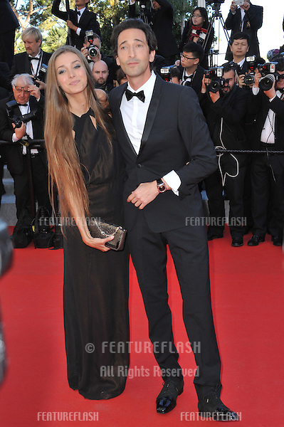 Adrien Brody &amp; girlfriend Lara Lieto at the gala awards ceremony at the 67th Festival de Cannes.<br /> May 24, 2014  Cannes, France<br /> Picture: Paul Smith / Featureflash