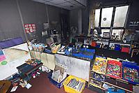 Remains of school after severe fire UK..©shoutpictures.com..john@shoutpictures.com