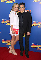 Christine Taylor and Ben Stiller at the NY premiere of Madagascar 3: Europe's Most Wanted at the Ziegfeld Theatre in New York City. June 7, 2012. © RW/MediaPunch Inc. NORTEPHOTO.COM