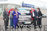 Pictured at the Credit Union Car Draw presentation on Friday in Adams Garage, Tralee, from left: Mike Geoghegan (Director), Pat Ashe, Mary Ashe (Winner, Caherleaheen, Tralee), Fintan Ryan (Manager Tralee Credit Union) and Suzanne Ennis (Marketing and Development Officer Tralee Credit Union).