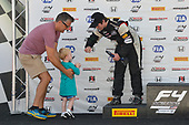 F4 US Championship<br /> Rounds 13-14-15<br /> Virginia International Raceway, Alton, VA USA<br /> Sunday 27 August 2017<br /> 37, Jordan Sherratt, victory lane<br /> World Copyright: Gavin Baker<br /> LAT Images