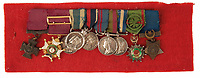 BNPS.co.uk (01202 558833)<br /> Pic:  Dukes/BNPS<br /> <br /> The impressive medals of Major General Euston Sartorius - Along with his VC he saw service all over the British Empire.<br /> <br /> The extraordinary story of two hero brothers who both received the Victoria Cross can be told after their bravery medals emerged for sale.<br /> <br /> Major General Reginald Sartorius was awarded the highest honour for gallantry after he rescued a wounded comrade under heavy fire during an African campaign in 1874.<br /> <br /> Major General Euston Sartorius followed in his footsteps five years later, earning a VC for leading his men in a daring offensive on a heavily guarded hill in Afghanistan, overcoming seemingly insurmountable odds. His small force engaged in a sword fight with the 'fanatical' enemy atop the hill, slaying seven of them.<br /> <br /> They are one of just four sets of brothers who have received VCs since the award was introduced by Queen Victoria in 1856 to honour acts of bravery during the Crimean War.<br /> <br /> The miniatures of their VCs are being sold by their descendants with auction house Dukes, of Dorchester, Dorset, who expect them to fetch £20,000.