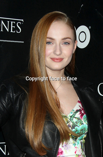 "NEW YORK, NY - MARCH 27: Sophie Turner at the ""Game Of Thrones"" The Exhibition New York Opening at 3 West 57th Avenue on March 27, 2013 in New York City...Credit: MediaPunch/face to face..- Germany, Austria, Switzerland, Eastern Europe, Australia, UK, USA, Taiwan, Singapore, China, Malaysia and Thailand rights only -"