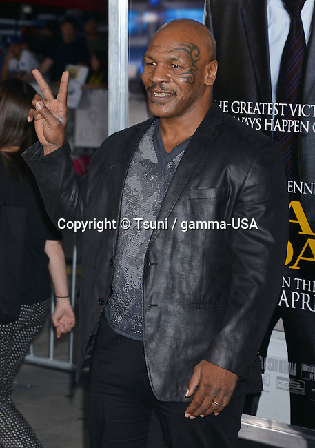 Mike Tyson  at the Draft Day Premiere at the Westwood Village Theatre in Los Angeles.