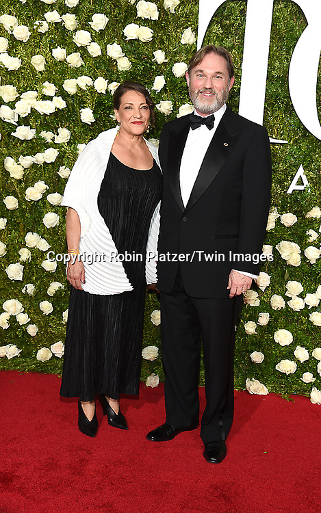 Richard Thomas and wife attends the 71st Annual  Tony Awards on June 11, 2017 at Radio City Music Hall in New York, New York, USA.<br /> <br /> photo by Robin Platzer/Twin Images<br />  <br /> phone number 212-935-0770