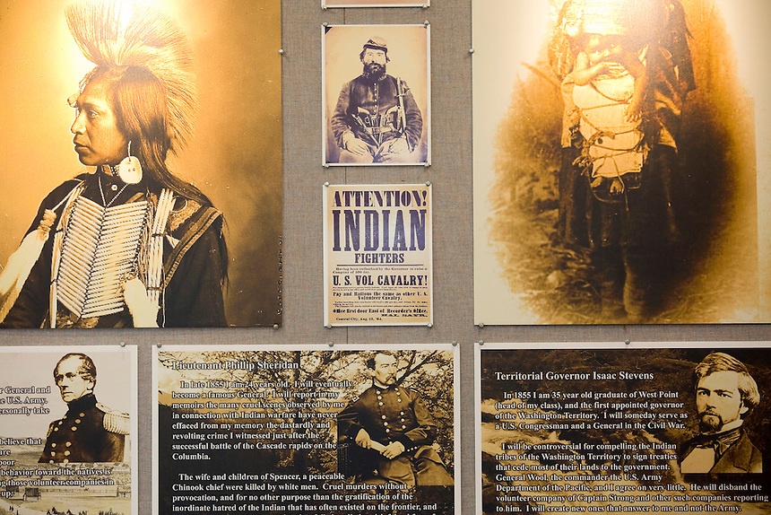 Details including photos taken by Edward S Curtis are part of the latest annual Battle Ground History Mystery in Battle Ground, Friday September 9, 2016. Photo by Natalie Behring)