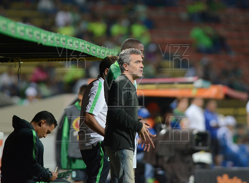 MEDELLIN -COLOMBIA, 20-8-2017.Juan Manuel Lillo director técnico del Atlético Nacional.Atlético Nacional y Alianza Petrolera durante partido por la fecha 9 de la Liga Aguila II 2017 jugado en el estadio Atanasio Girardot de la ciudad de Medellín. / Juan Manuel Lillo cach of  Atlético Nacional during match agaisnt  of  Alianza Petrolera match for the date 9 of the Aguila League II 2017 played at Atanasio Girardot stadium in Medellin city. Photo:VizzoImage /León Monsalve  / Stringer