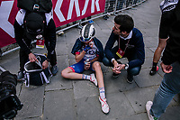 post-race emotions<br /> <br /> 5th Strade Bianche WE (1.WWT)<br /> One day race from Siena to Siena (136km)<br /> <br /> ©JojoHarper for kramon