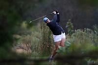 CHAPEL HILL, NC - OCTOBER 13: Krista Junkkari of the University of North Carolina tees off at UNC Finley Golf Course on October 13, 2019 in Chapel Hill, North Carolina.