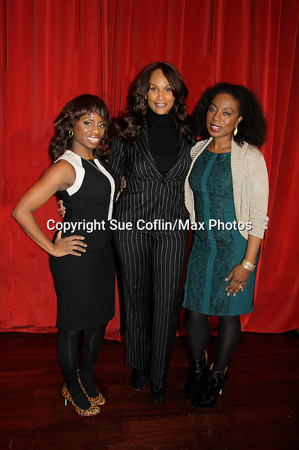 Delaina Dixon - Beverly Johnson - Maureen Tokeson-Martin - Color of Beauty recognizes stylish people of color with a one-day event featuring topical panel discussions followed later tonght with a red carpet awards ceremony. The event was on February 4, 2014 at New York University, New York City, NY. (Photo by Sue Coflin/Max Photos)