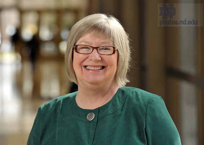 Librarian Laurie McGowan...For ACCESS Newsletter..Photo by Matt Cashore/University of Notre Dame