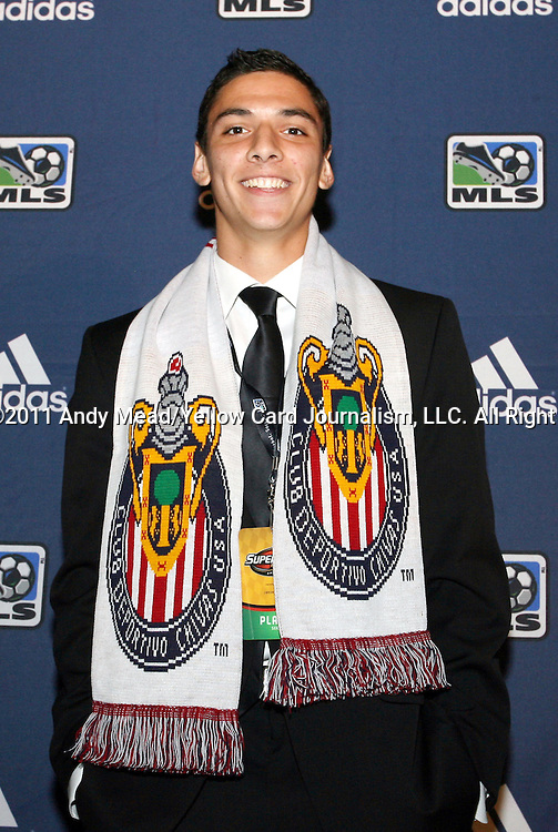 13 January 2011: CD Chivas USA selected Zarek Valentin with the #4 overall pick. The 2011 MLS SuperDraft was held in the Ballroom at Baltimore Convention Center in Baltimore, MD during the NSCAA Annual Convention.