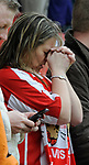 A Stoke City fan prays before kick off during the Championship League match at The Britannia Stadium, Stoke. Picture date 4th May 2008. Picture credit should read: Simon Bellis/Sportimage
