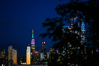 NEW YORK, NY - JUNE 30: The Empire State Building is lighted on rainbow colors during 2019 World Pride NYC and Stonewall 50th LGBTQ Pride Parade on June 30, 2019 in New York City,  (Photo by Eduardo MunozAlvarezVIEWpress)