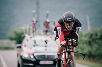 Kilian Frankiny (SUI/BMC)<br /> <br /> stage 16: Trento &ndash; Rovereto iTT (34.2 km)<br /> 101th Giro d'Italia 2018