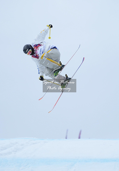 Emma Dahlstrom (SWE). final. Womens Ski Slopestyle - Rosa Khuter Extreme Park - PHOTO: Mandatory by-line: Garry Bowden/SIPPA/Pinnacle - Photo Agency UK Tel: +44(0)1363 881025 - Mobile:0797 1270 681 - VAT Reg No: 768 6958 48 - 110214 - 2014 SOCHI WINTER OLYMPICS - Olympic park, Sochii, Russia