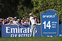 Rafa Cabrera Bello (ESP) during the third round of the DP World Championship, Earth Course, Jumeirah Golf Estates, Dubai, UAE. 23/11/2019<br /> Picture: Golffile | Phil INGLIS<br /> <br /> <br /> All photo usage must carry mandatory copyright credit (© Golffile | Phil INGLIS)