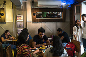 The Nut Cracker, a very popular cafe with the locals in Kala Ghoda in Mumbai, India. Photo: Sanjit Das/Panos