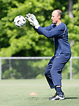 Kasey Keller makes a save on Saturday, May 20th, 2006 at SAS Soccer Park in Cary, North Carolina. The United States Men's National Soccer Team held a training session as part of their preparations for the upcoming 2006 FIFA World Cup Finals being held in Germany.