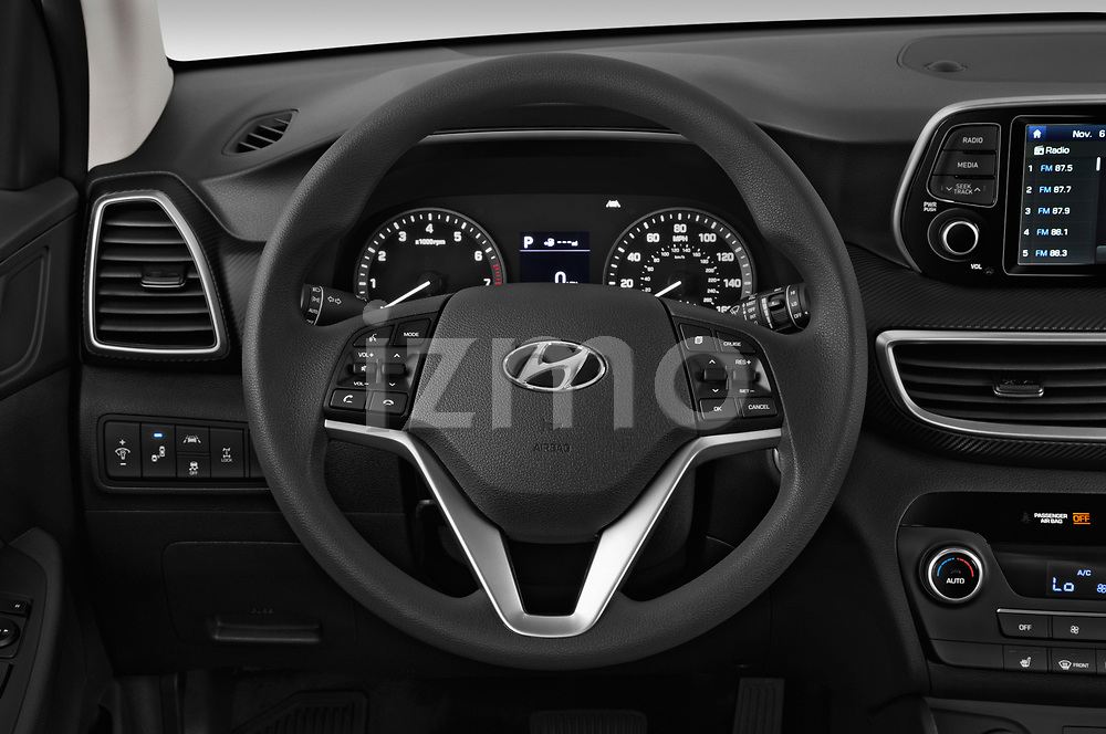 Car pictures of steering wheel view of a 2019 Hyundai Tucson SEL 5 Door SUV