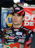 May 1, 2009; Richmond, VA, USA; NASCAR Sprint Cup Series driver Jeff Gordon during practice for the Russ Friedman 400 at the Richmond International Raceway. Mandatory Credit: Mark J. Rebilas-