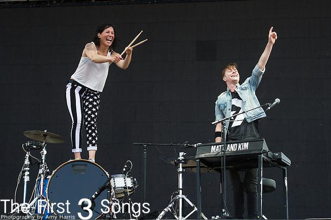 Matt Johnson and Kim Schifino of Matt and Kim performs at the 2nd Annual BottleRock Napa Festival at Napa Valley Expo in Napa, California.