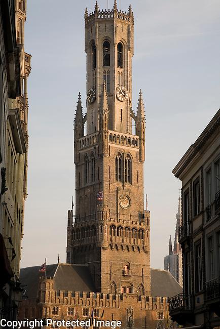 Belfort - Belfry - Museum of Burges, Market; Place; Bruges; Belgium; Europe;