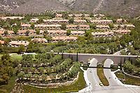 The Resort at Pelican Hill in Newport Coast California Aerial Stock Photo