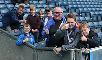 Blackburn Rovers Fans at the start of todays match<br /> <br /> Photographer Rachel Holborn/CameraSport<br /> <br /> The EFL Sky Bet League One - Blackburn Rovers v Doncaster Rovers - Saturday August 12th 2017 - Ewood Park - Blackburn<br /> <br /> World Copyright &copy; 2017 CameraSport. All rights reserved. 43 Linden Ave. Countesthorpe. Leicester. England. LE8 5PG - Tel: +44 (0) 116 277 4147 - admin@camerasport.com - www.camerasport.com