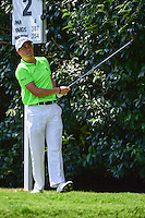 Justin Thomas (USA) watches his tee shot on 2 during round 1 of the World Golf Championships, Mexico, Club De Golf Chapultepec, Mexico City, Mexico. 3/2/2017.<br /> Picture: Golffile | Ken Murray<br /> <br /> <br /> All photo usage must carry mandatory copyright credit (&copy; Golffile | Ken Murray)