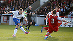 Barrie McKay attempts a strike towards goal