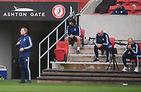 4th July 2020; Ashton Gate Stadium, Bristol, England; English Football League Championship Football, Bristol City versus Cardiff City; Neil Harris Manager of Cardiff City encourages his team on the sideline