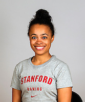 Anja Young with Stanford women's rowing ltw team