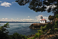 Lighthouse on Friday Harbor in Washington.