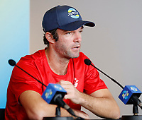 2nd January 2020; RAC Arena , Perth, Western Australia, Australia; ATP Cup Team Press conferences, Spain; Teymuraz Gabashvili of Russia speaks to the press  at the team press conferences - Editorial Use