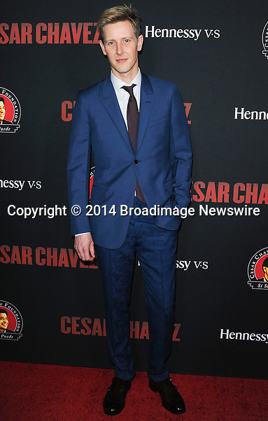 Pictured: Gabriel Mann<br /> Mandatory Credit &copy; Adhemar Sburlati/Broadimage<br /> Film Premiere of Cesar Chavez<br /> <br /> 3/20/14, Hollywood, California, United States of America<br /> <br /> Broadimage Newswire<br /> Los Angeles 1+  (310) 301-1027<br /> New York      1+  (646) 827-9134<br /> sales@broadimage.com<br /> http://www.broadimage.com