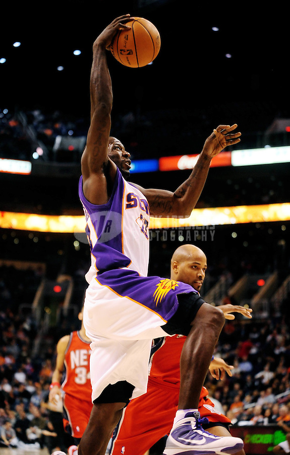 Jan. 20, 2010; Phoenix, AZ, USA; Phoenix Suns forward (23) Jason Richardson drives to the basket in the first half against New Jersey Nets at the US Airways Center. The Suns defeated the Nets 118-94. Mandatory Credit: Mark J. Rebilas-