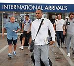 08.08.18 FK Maribor arrive at Glasgow airport: Marcos Tavares