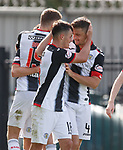04.08.18 St Mirren v Dundee: Danny Mullen takes the acclaim after scoring from Stephen McGinn