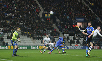 Preston North End's Alan Browne scores his sides third goal  beating Leeds United's Bailey Peacock-Farrell<br /> <br /> Photographer Mick Walker/CameraSport<br /> <br /> The EFL Sky Bet Championship - Preston North End v Leeds United - Tuesday 10th April 2018 - Deepdale Stadium - Preston<br /> <br /> World Copyright &copy; 2018 CameraSport. All rights reserved. 43 Linden Ave. Countesthorpe. Leicester. England. LE8 5PG - Tel: +44 (0) 116 277 4147 - admin@camerasport.com - www.camerasport.com