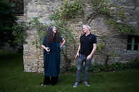 Johnny and Octavia at Twywell Manor House in North Hamptonshire, England.
