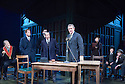 An Enemy of The People by Henrik Ibsen, a new version by Christopher Hampton directed by Howard Davies. With Hugh Bonneville as Dr Tomas Stockmann [at microphone]. Opens at Chichester Festival Theatre on 4/5/16 CREDIT Geraint Lewis