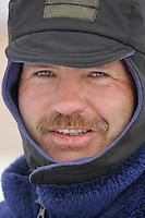 Robert Sorlie at the half-way Iditarod checkpoint.  2005 Iditarod Trail Sled Dog Race.