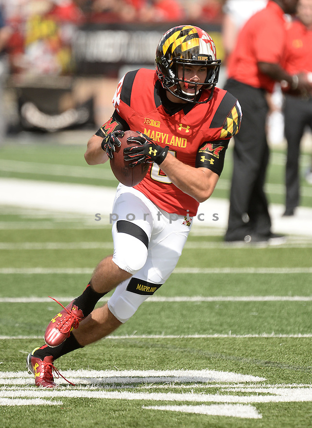 Maryland Terrapins Zac Morton (6) during a game against the Richmond Spiders on September 5 2015 at Byrd Stadium in College Park, MD. Maryland beat Richmond 51-21.