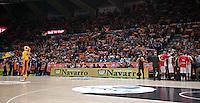 VALENCIA, SPAIN - 05/12/2014. Aficionados  del Valencia Basket durante el partido. Pabellon Fuente de San Luis, Valencia, Spain.