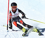 LEAD, SD - JANUARY 31, 2016 -- Finn Begley works through the slalom in the U12 category during the 2016 USSA Northern Division Ski Races at Terry Peak Ski Area near Lead, S.D. Sunday. (Photo by Richard Carlson/dakotapress.org)
