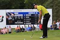 Zach Johnson (USA) birdie putt on the 9th green during Sunday's Final Round of the WGC Bridgestone Invitational 2017 held at Firestone Country Club, Akron, USA. 6th August 2017.<br /> Picture: Eoin Clarke | Golffile<br /> <br /> <br /> All photos usage must carry mandatory copyright credit (&copy; Golffile | Eoin Clarke)