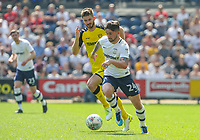 Preston North End's Sean Maguire gets away from Burton Albion's Luke Murphy<br /> <br /> Photographer Alex Dodd/CameraSport<br /> <br /> The EFL Sky Bet Championship - Preston North End v Burton Albion - Sunday 6th May 2018 - Deepdale Stadium - Preston<br /> <br /> World Copyright &copy; 2018 CameraSport. All rights reserved. 43 Linden Ave. Countesthorpe. Leicester. England. LE8 5PG - Tel: +44 (0) 116 277 4147 - admin@camerasport.com - www.camerasport.com